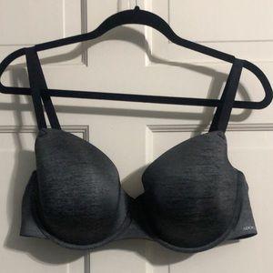 Dark gray padded bra
